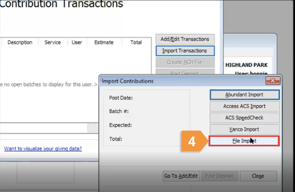 How can I integrate my Givelify donations with ACS People?